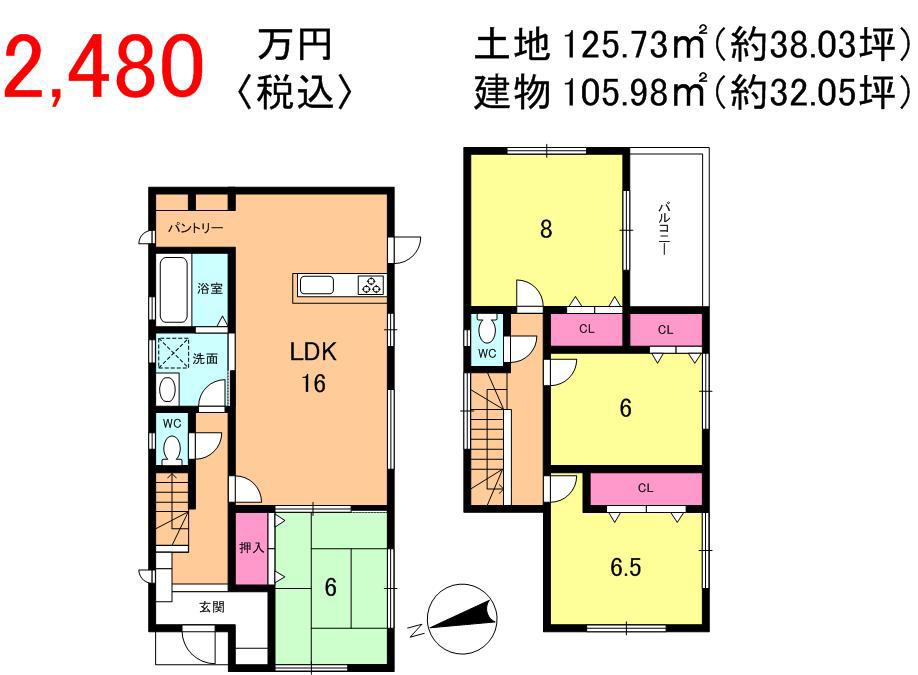 下阪本3丁目 新築一戸建て間取図