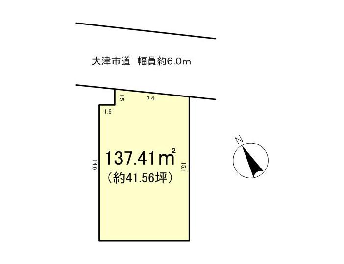 下阪本3丁目 建築条件無し売土地1090万円 区画図