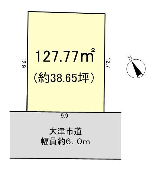 下阪本5丁目 建築条件無し売土地区画図