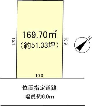 下阪本3丁目1490万円区画図