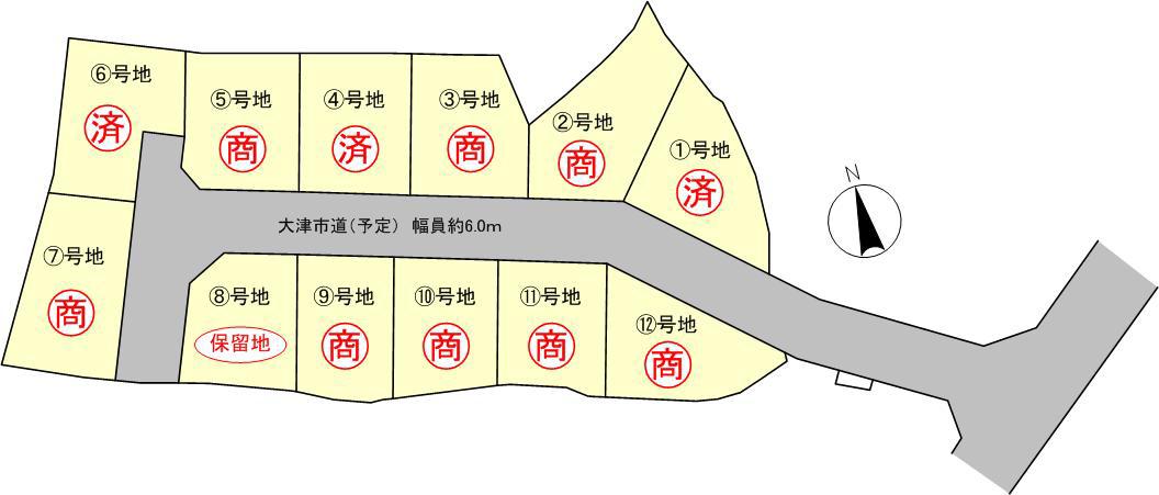 ウエストレイク見世2丁目 全12区画 区画図