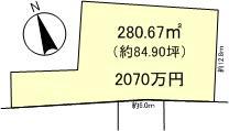 下阪本4丁目10号地・11号地 建築条件無し売土地区画図