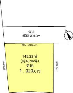 ウエストレイク下阪本4丁目 全12区画5号地 区画図
