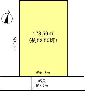 坂本3丁目 建築条件無し売土地 区画図