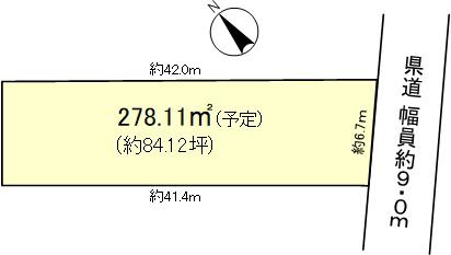 大津市下阪本一丁目区画図