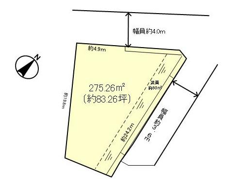 大津市滋賀里3丁目区画図