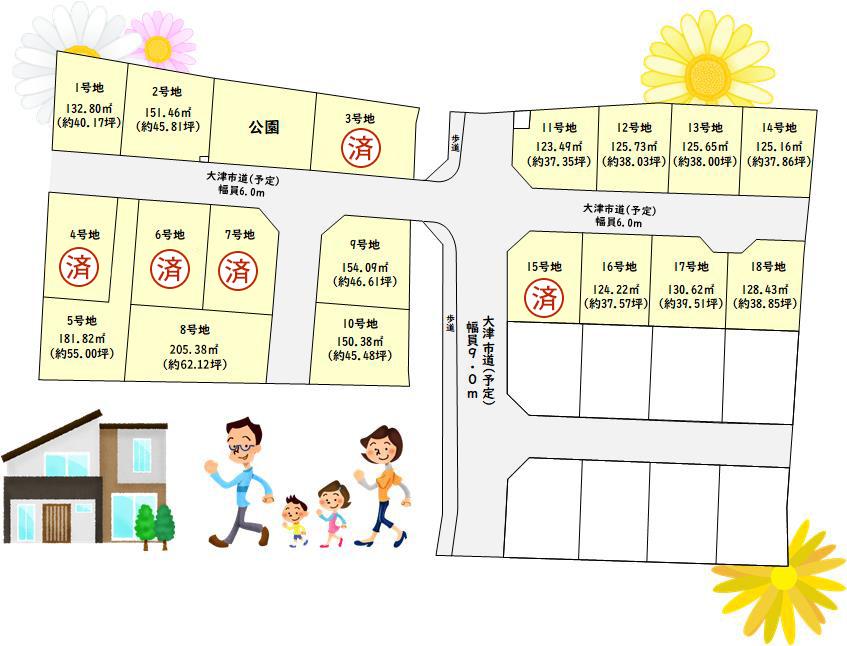 ウエストレイク下阪本2・3丁目 全26区画 区画図